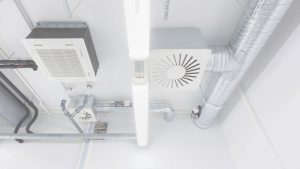 Clean commercial AC installation in the South Coast